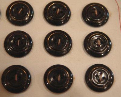 画像1: フランス製 ヴィンテージボタン ガラス